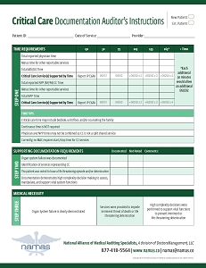 Critical Care Audit Tool