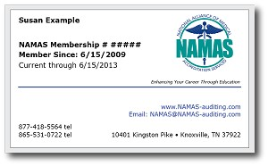 NAMAS Membership Upgrade